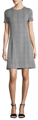 Lord & Taylor Ponte Plaid Fit--Flare Dress