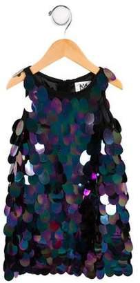 Milly Minis Girls' Sleeveless Embellished Dress w/ Tags