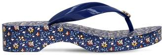 Tory Burch 40mm Cut Out Floral Rubber Flip Flops
