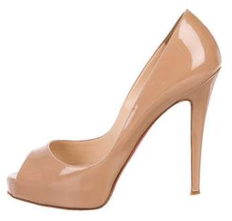 Christian Louboutin Very Prive 120 Patent Leather Pumps