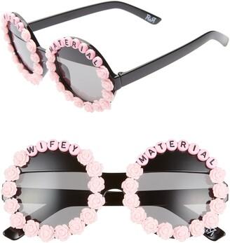 Rad + Refined Wifey Material Flower Round Sunglasses