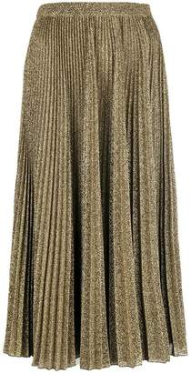 Philosophy di Lorenzo Serafini pleated metallic skirt