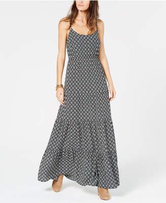 Michael Kors Tiered Panel Sleeveless Maxi Dress