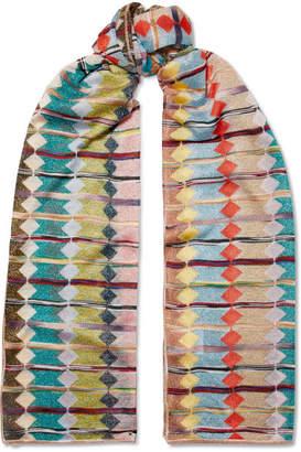 Missoni Metallic Crochet-knit Scarf