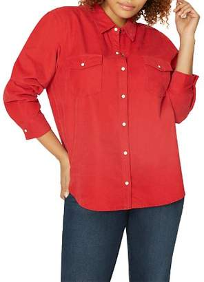 Sanctuary Curve Snap Front Work Shirt