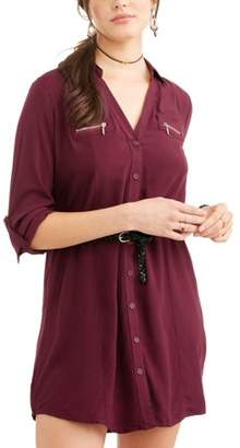 New Look Juniors' Belted Dress with Collar and Pockets