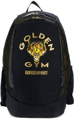 Plein Sport golden gym print backpack