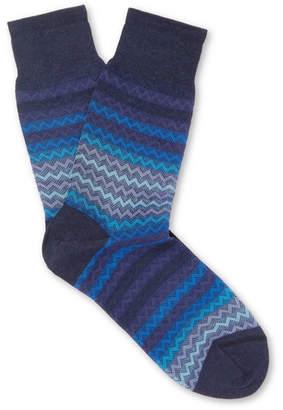 Missoni Jacquard-Knit Cotton Socks