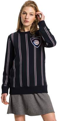 Tommy Hilfiger STRIPED VARSITY CREWNECK