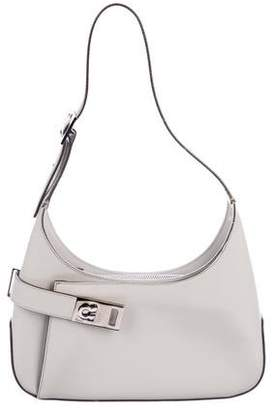 Salvatore Ferragamo Gancio Leather Shoulder Bag