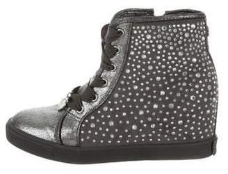 Stuart Weitzman Girls' Embellished High- Top Wedge Sneakers
