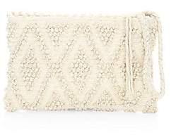 Inverni Women's Piattina Rombi Knit Wristlet Clutch