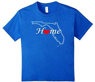 Florida Home T-shirt Great Gifts Heart Love Florida State