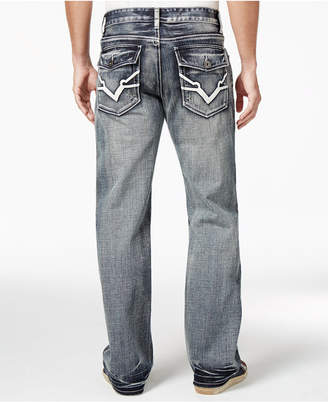 INC International Concepts Men's Garvey Relaxed-Fit Dark Wash Jeans, Only at Macy's $49.98 thestylecure.com