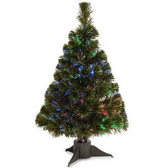 NATIONAL TREE CO National Tree Co. 2 Foot Fiber Optic Ice Pre-Lit Christmas Tree