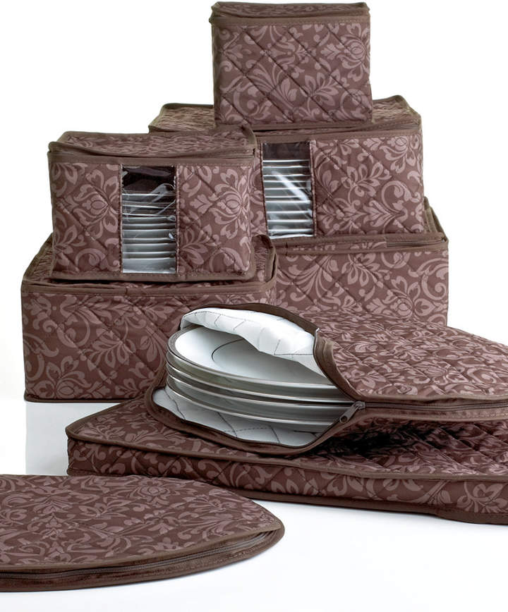 Homewear Fine China Storage Set, 8 Piece Chocolate Hudson Damask