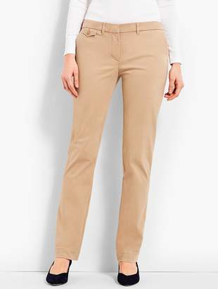Talbots Peached Sateen Straight-Leg Pant
