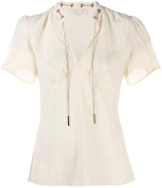 MICHAEL Michael Kors chain-link crepe blouse