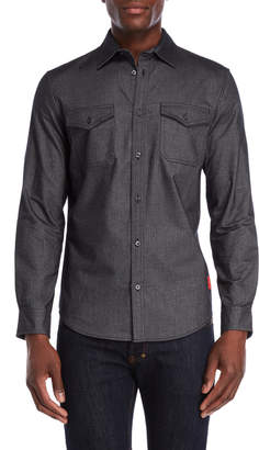 Calvin Klein Jeans Brushed Chambray Long Sleeve Shirt