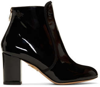 Charlotte Olympia Black Patent Alba Boots