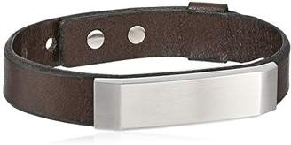 Fossil Steel and Leather Bracelet