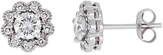 Diamond Select Cuts 14K 1.00 Ct. Tw. Diamond Floral Studs