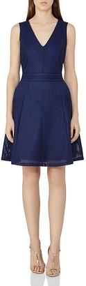 REISS Topaz Textured Dress $295 thestylecure.com