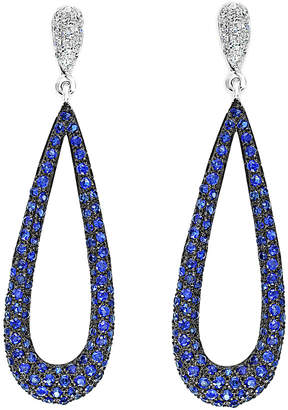 Effy Fine Jewelry 14K 1.55 Ct. Tw. Diamond & Sapphire Drop Earrings