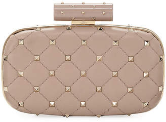Valentino Rockstud Spike Quilted Napa Minaudiere Bag