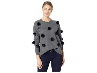 CeCe Long Sleeve Pom Pom Pullover Sweater