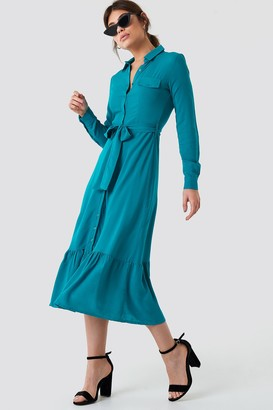 Trendyol Ruffle Bottom Shirt Dress