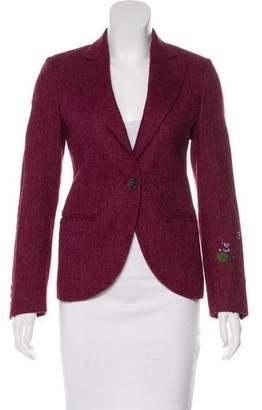 Balmain Wool Herringbone Blazer