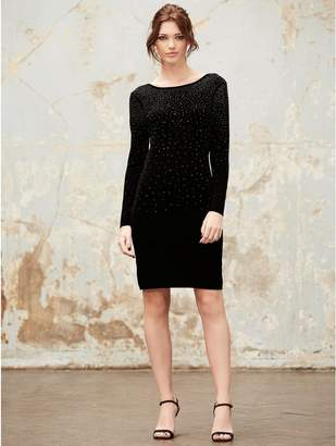 5cf84cbe0663b Black Embellished Jumper Dress - ShopStyle UK