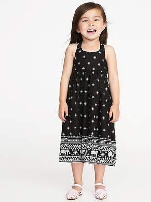 Old Navy Printed Halter Dress for Toddler Girls