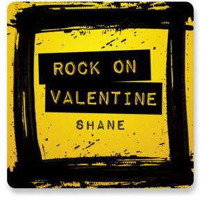 Rock On Valentine Custom Stickers