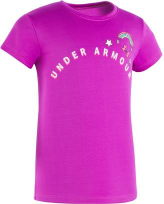 Under Armour Girls' Pre-School UA Patches Short Sleeve
