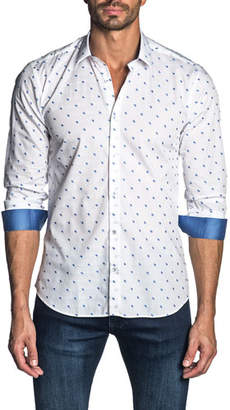 Jared Lang Men's Embroidered Sport Shirt