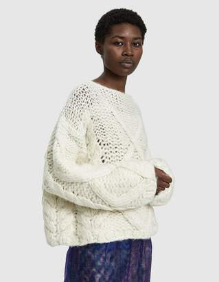 Maison Margiela Cropped Hand-Knit Sweater