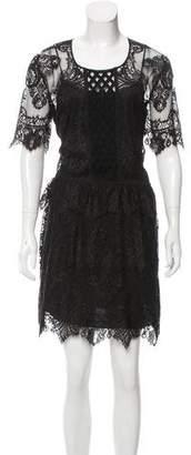 Burberry Short Sleeve Lace Dress