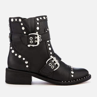 a371a6c89c3ba Sam Edelman Women s Drea Diablos Leather Biker Boots - Black