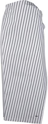 Off-White Striped Pencil Skirt