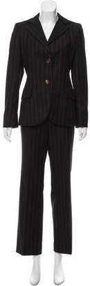 Akris Wool Striped Pantsuit