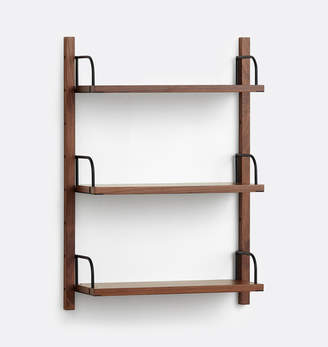 Rejuvenation Hart Modular Walnut Triple Shelf Set
