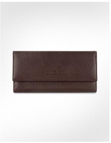 Forzieri Women's Pebble Italian Leather Clutch Wallet