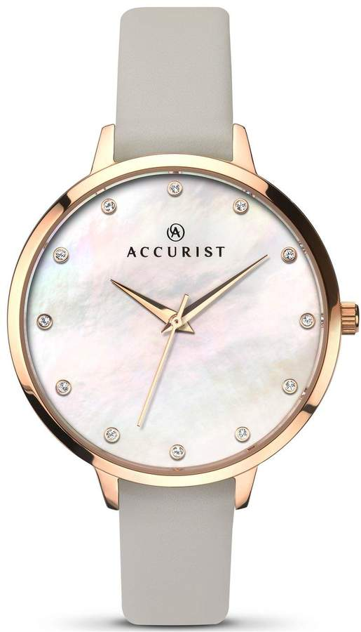 Accurist Ladies White Mother of Pearl Dial Ladies Watch