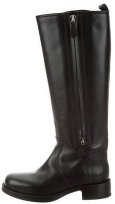 Hermes Knee-High Leather Boots