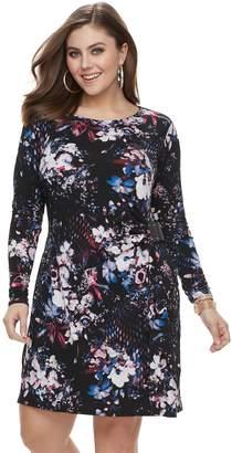 JLO by Jennifer Lopez Plus Size Wrap Dress
