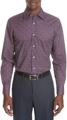 Canali Classic Fit Floral Sport Shirt