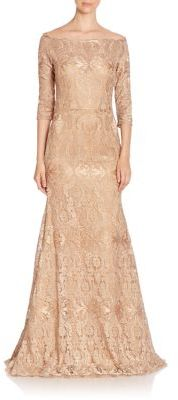 Jovani Fit-&-Flare Embroidered Gown $750 thestylecure.com