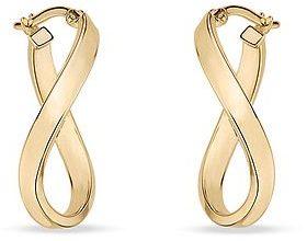 14K Yellow Gold Twist Earrings